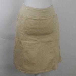 Chaus A-Line Stretch Rattan Skirt w/Pockets Casual